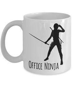 Office Ninja Mug 11 oz. Ceramic Coffee Cup Office Manager Gift Administrative Assistant Gift