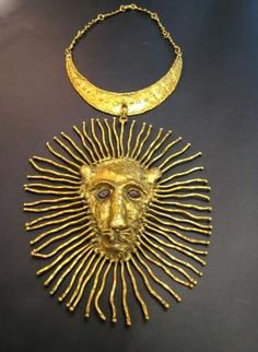 Necklace | Pal Kepenyes.  Bronze Lion.  1960s, Mexico by maureen