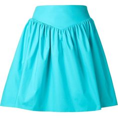 Moschino high waist pleated skirt (847 CAD) ❤ liked on Polyvore featuring skirts, bottoms, blue, short skirts, pleated skirt, knee length pleated skirt, high rise skirts and moschino
