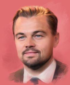 Leonardo Wilhelm DiCaprio é um ator, produtor e filantropo norte-americano ganhador do Oscar de melhor ator por The Revenant. Começou sua carreira aparecendo em comerciais de televisão. Painting by Devson Lisboa