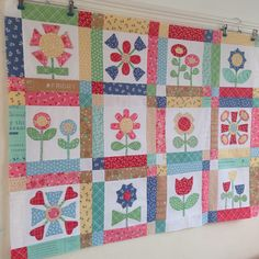 """Bloom"" sew-along Quilting, Bloom, Blanket, Sewing, Flowers, Projects, How To Make, Blankets, Couture"