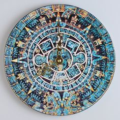 Aztec /  Mayan Calender Wall Clock by MoonLadders on Etsy, $20.00