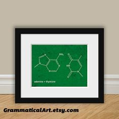 DNA Molecule Science Adenine Thymine Print Science Office Decor Gifts for Teachers Gifts Science Art Biochemistry Gag Gift Office Decor