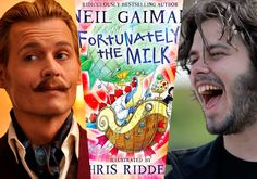 """Johnny Depp and Edgar Wright team up for Neil Gaiman's Fortunately, the Milk   THR reports that the pair will bring Neil Gaiman's children's book """"Fortunately, The Milk"""" to the big screen. Fox is eyeballing the movie which will be a mix of live action and animation about a trip to the store to buy some milk which soon turns into a wild adventure. Here's the book synopsis:"""