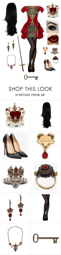 """If it feels good, tastes good, it must be mine...."" by circe-1emon ❤ liked on Polyvore featuring Vittorio Ceccoli, Christian Louboutin, Too Faced Cosmetics, Alexander McQueen, Jayson Home and vintage"