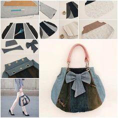 Hoy estoy compartiendo con ustedes otro proyecto de la manera de DIY para volver a propósito viejos pantalones vaqueros en un bolso de mano. Sin embargo, e