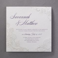 Lacy Shimmer - Invitation is among the popular products in our line of premium wedding invitations by Carlson Craft! Wedding Invitation Trends, Discount Wedding Invitations, Sweet 16 Invitations, Laser Cut Wedding Invitations, Shower Invitations, Wedding Stationery, Wedding 2015, Wedding Trends, Wedding Ideas