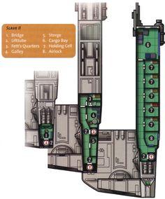 From the Fett Family scrapbook Star Wars Rpg, Star Wars Ships, Boba Fett Mandalorian, Star Wars Spaceships, Starship Concept, Star Wars Light Saber, Prison Cell, Deck Plans, Lightsaber