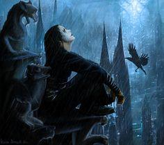 Luke Evans To Star in The Crow Reboot - iHorror Dark Fantasy Art, Dark Art, Fantasy Men, The Crow, Luke Evans, Michael Buble, Girl Illustration Art, Metallica, Jack Huston