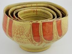 Pretty pottery frm Linville, NC potter - saw it in Asheville last yoear - Tim Turner Pottery