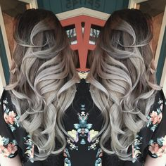Grey hair, granny hair, silver hair, ombre, titanium, steel, woman of steel, pravana, joico, redken, summer hair color 2015, guy tang, Jason Franks, Eaton Rapids Michigan, Fahrenheit.