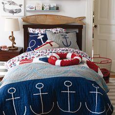 Boys Bedding: Nautical Buoy Bedding Set in Boy Bedding | The Land of Nod