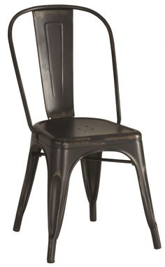 Pc Dining Chairs Industrial Black Color Metal Chairs Coaster 105612