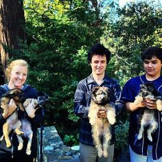Billie Joe and Jakob with puppies. Could there ever be a better picture? NOPE.
