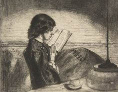 James Whistler, Reading By Lamplight.  Art Experience NYC  www.artexperiencenyc.com/social_login/?utm_source=pinterest_medium=pins_content=pinterest_pins_campaign=pinterest_initial