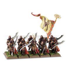 Miniatures - Forest Rangers - Sylvan Elves (SE) - The Age Warhammer Dark Elves, Warhammer Fantasy, Rangers Game, Fall Color Schemes, Wood Elf, Game Workshop, Dark Elf, Fantasy Miniatures, Monster