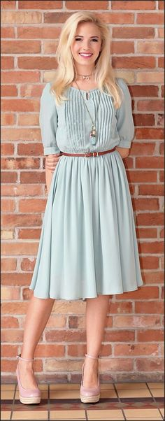 Such a pretty and modest dress!