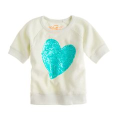 sequin heart sweatshirt