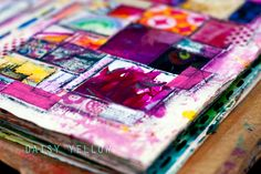 Art journaling is about the {creative process}of pulling together color, words and images as you wish on a page. Unlike many other forms of art, it is not about the outcome. Tammy Garcia