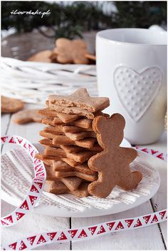 Polish Recipes, Xmas Crafts, Yule, Gingerbread Cookies, Christmas Time, Waffles, Christmas Decorations, Menu, Favorite Recipes