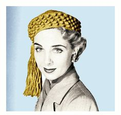 Vintage 1950s Crochet Pattern Tassel Beret Pillbox Hat Cap Beanie PDF. $3,00, via Etsy.
