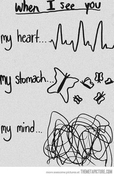 Every time I see you...yep thats about right