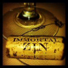 The Immortal Zin '09 Zinfandel. Yum!