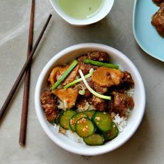 chinese crock pot beef - cubes of beef shank slow cooked to tender perfection with fermented soy bean paste, garlic and mushrooms.