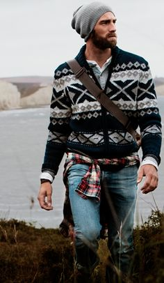 Grunge meets Norwegian mens sweater mens style mens fashion great look Rugged Style, Mode Masculine, Look Fashion, Winter Fashion, Fashion Outfits, Fashion Sale, Paris Fashion, Fashion Fashion, Runway Fashion