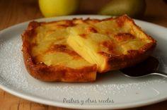 Pastel de manzana y pera Sencillo, rápido y delicioso Su receta: postresyotrasrecetas.blogspot.com