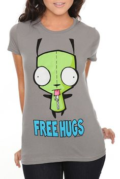 INVADER ZIM GIR FREE HUGS GIRLS T-SHIRT $23