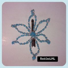 Opaque Baby Blue Starburst Wire Crochet Hair Pin by RockDocLML on Etsy https://www.etsy.com/listing/240689458/opaque-baby-blue-starburst-wire-crochet