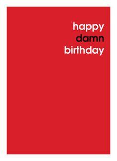 A Little Jealous Happy Birthday Card