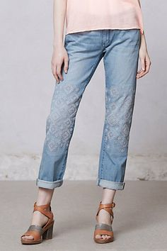 Pilcro Hyphen Embroidered Jeans #anthropologie