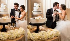 Katherine + Michael January Wedding | Cake Cutting & Toast | Carter Rose Photography @f8studiowedding