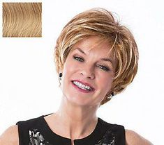 The Toni Brattin Enchanting Wig features a short, classic cut in a contemporary silhouette. Short Cut Wigs, Short Thin Hair, Short Hairstyles For Thick Hair, Easy Hairstyles, Hairstyles For Over 50, Fine Thin Hair, Hairstyles For Older Women, Frozen Hairstyles, Japanese Hairstyles