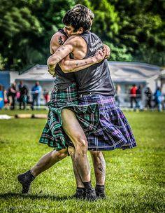 Helensburgh Highland Games 2012; Kilted wrestling