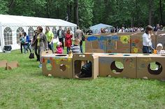 Play And Grow cardboard box playground