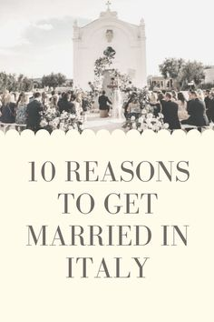 Find the 10 reasons why getting married in Italy is the thing to do! #italy #italie #wedding #church #celebrate #celebration #dayofmylife #yes #proposition #guests #weddingguests #mariage #weddingplanner #surprise #travel #paradie #sunny #landscapes #original #originalwedding #puglia #tuscany #apulia #guide #reasons #married #gettingmarried Getting Married In Italy, Got Married, Reasons To Get Married, Places In Italy, Wedding Places, Day Of My Life, Italy Wedding, Sounds Like, Things To Do