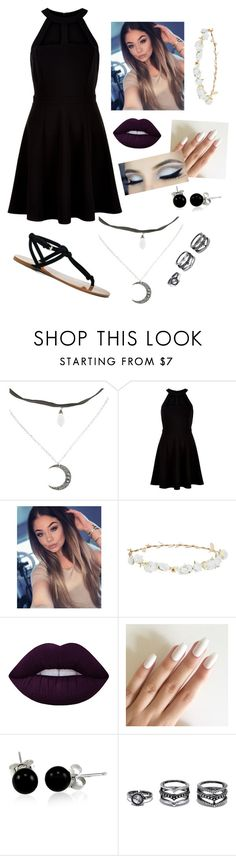"""Idek"" by kittykatkenna ❤ liked on Polyvore featuring New Look, Robert Rose, Lime Crime, Bling Jewelry, LULUS and Sole Society"
