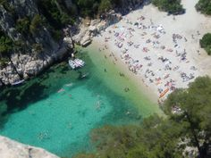 Cassis in the south of France. A beach I went to in 1993. One of the most beautiful places in the world.
