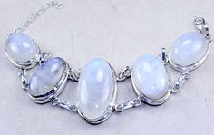 NEEDDD. Rainbow Moonstone & 925 Sterling Silver by JewelrybySilverTrend