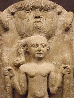 Cippus of Horus Limestone Roman Period Egypt