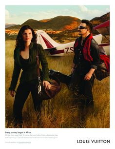 Bono and Ally Hewson by Annie Leibovitz for Louis Vuitton.