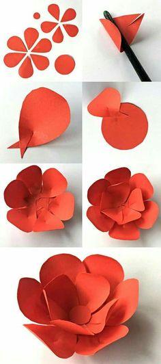 Flor gigante roja
