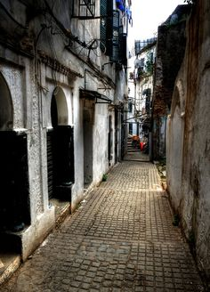Nowdays - A narrow street in the old city (Algiers, Algeria)