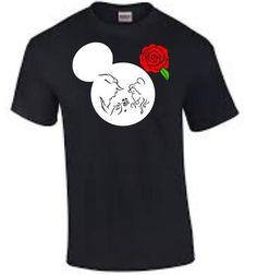 Beauté et la bête Mickey tête Disney Tshirt par ShesCrafteeLLC