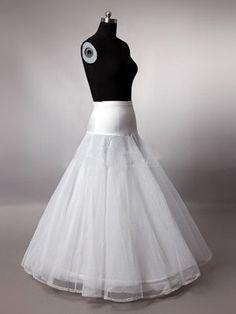 Wedding Dress Petticoat Crinoline Underskirt Hoopless Floor-length Petticoat Long Skirt White Ivory Available Lycra Waist$33.00