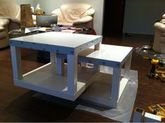 lack tables upgraded, ikea hack, coffee table or bookshelf