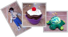 Art Threads: Wednesday Sewing: Zombies, Cupcakes, and Turtles - Pincushions!